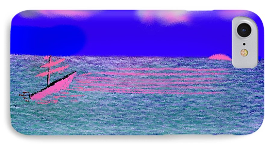 Early Evening IPhone 7 Case featuring the digital art Sea.sun by Dr Loifer Vladimir