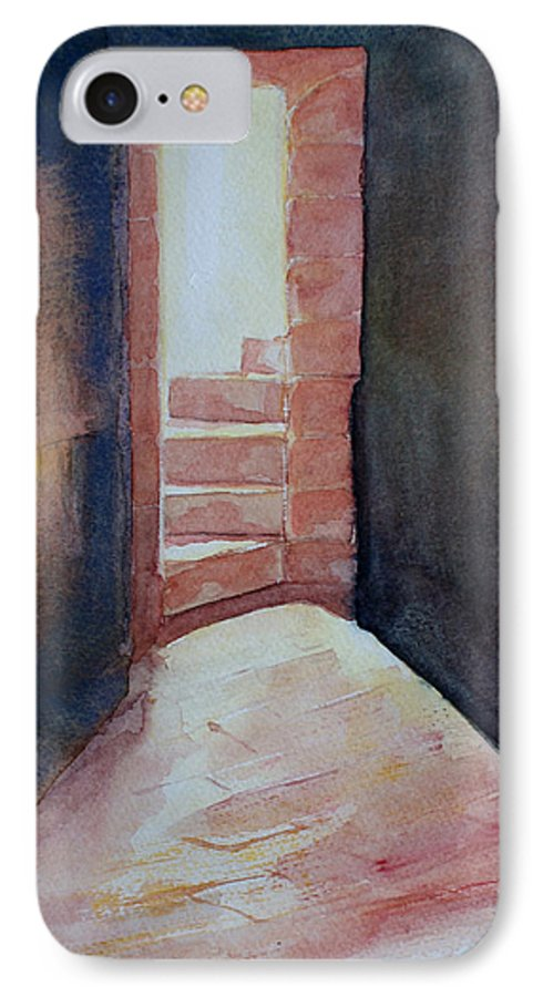 Light IPhone 7 Case featuring the painting Secrets by Janice Gell