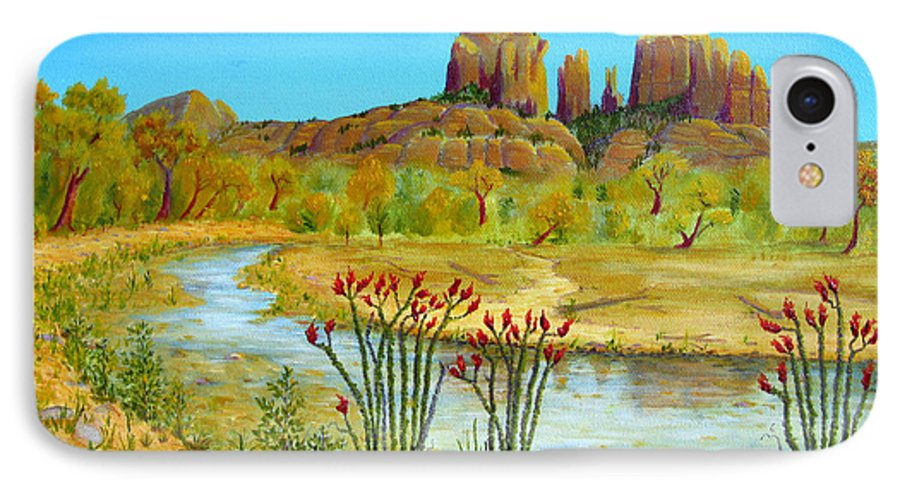 Sedona IPhone 7 Case featuring the painting Sedona Arizona by Jerome Stumphauzer