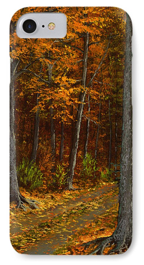 Landscape IPhone 7 Case featuring the painting Seldom Used by Frank Wilson