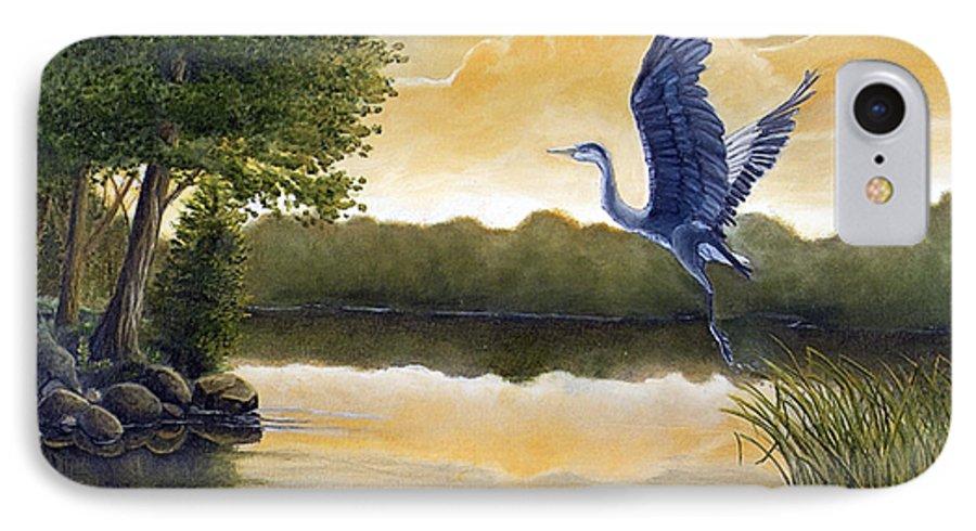 Rick Huotari IPhone 7 Case featuring the painting Serenity by Rick Huotari