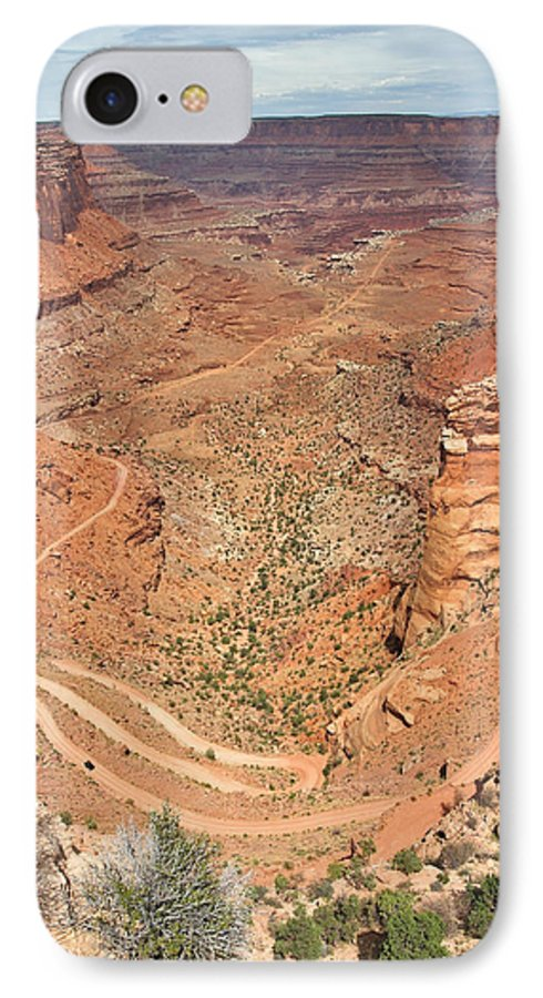3scape IPhone 7 Case featuring the photograph Shafer Trail by Adam Romanowicz