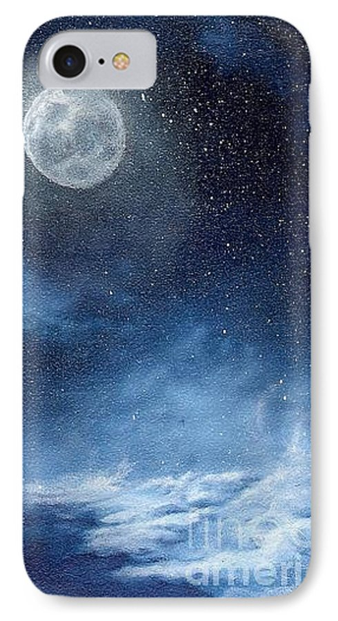 Cosmos IPhone 7 Case featuring the painting Shimmer by Murphy Elliott