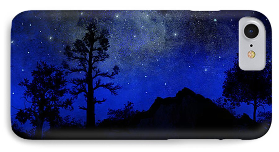 Sierra Silhouette IPhone 7 Case featuring the painting Sierra Silhouette Wall Mural by Frank Wilson