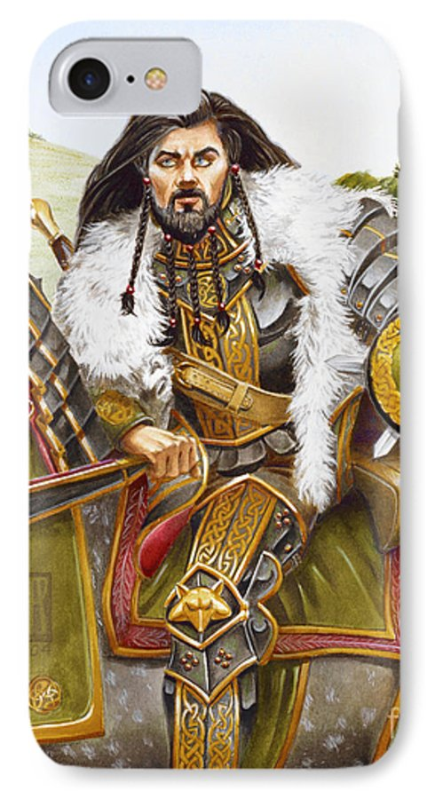 Fine Art IPhone 7 Case featuring the painting Sir Marhaus by Melissa A Benson