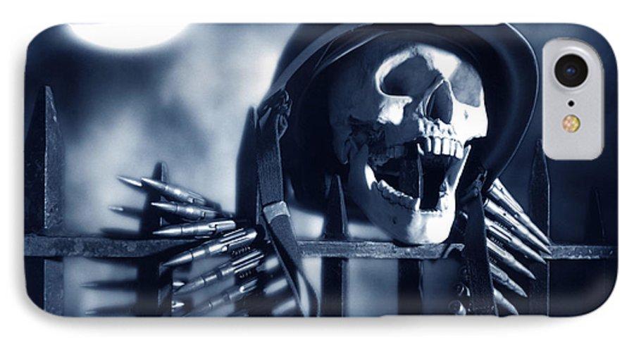 Skull IPhone 7 Case featuring the photograph Skull by Tony Cordoza