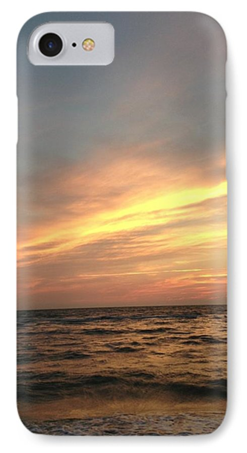 Sunset IPhone 7 Case featuring the photograph Slanted Setting by K Simmons Luna