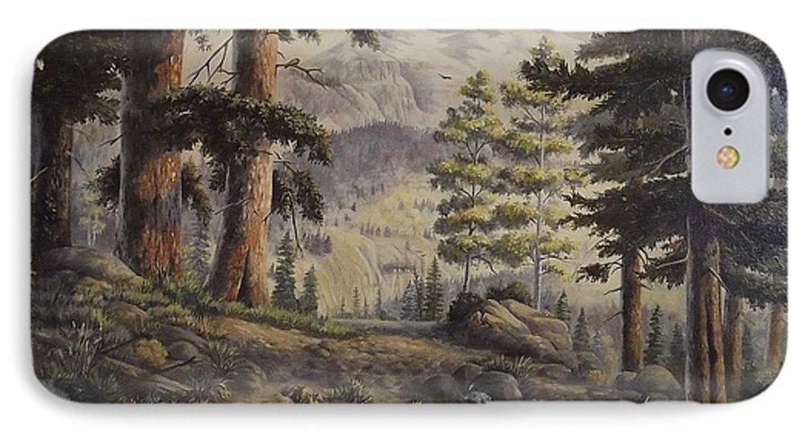 Slumgullian Mountain Colo. IPhone 7 Case featuring the painting Slumgullian Pass by Wanda Dansereau