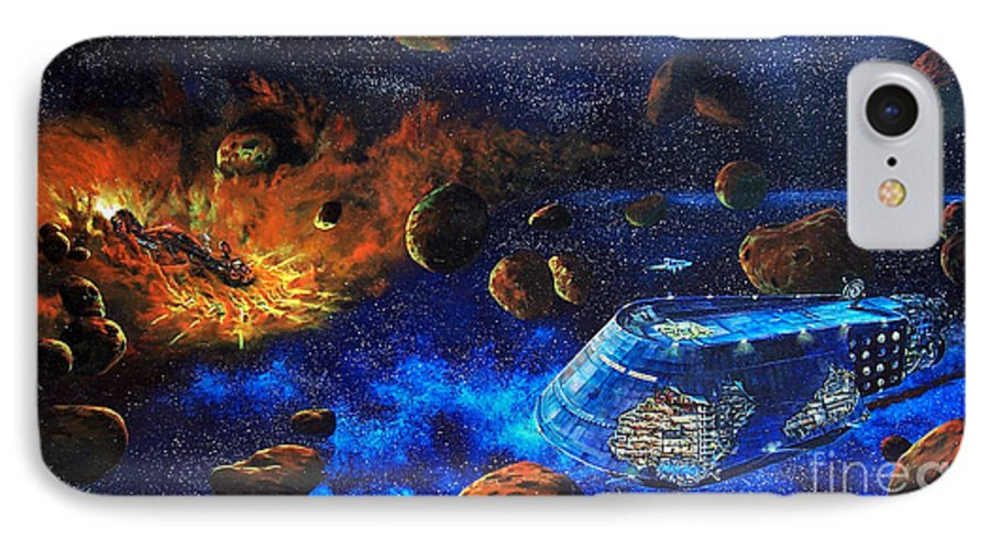 Future IPhone 7 Case featuring the painting Spaceship Titanic by Murphy Elliott