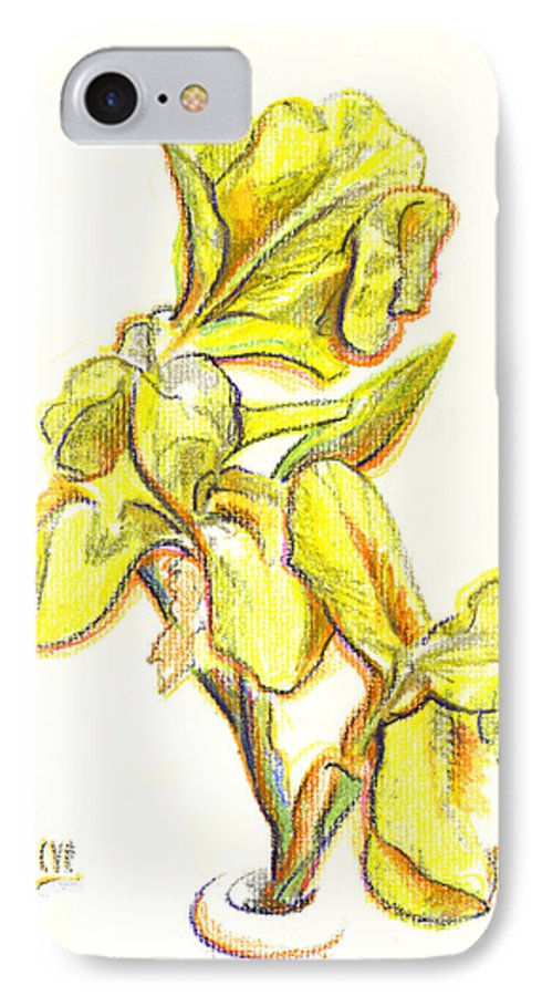 Spanish Irises IPhone 7 Case featuring the painting Spanish Irises by Kip DeVore