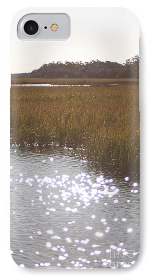 Marsh IPhone 7 Case featuring the photograph Sparkling Marsh by Nadine Rippelmeyer
