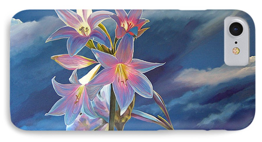 Botanical IPhone 7 Case featuring the painting Spellbound by Hunter Jay