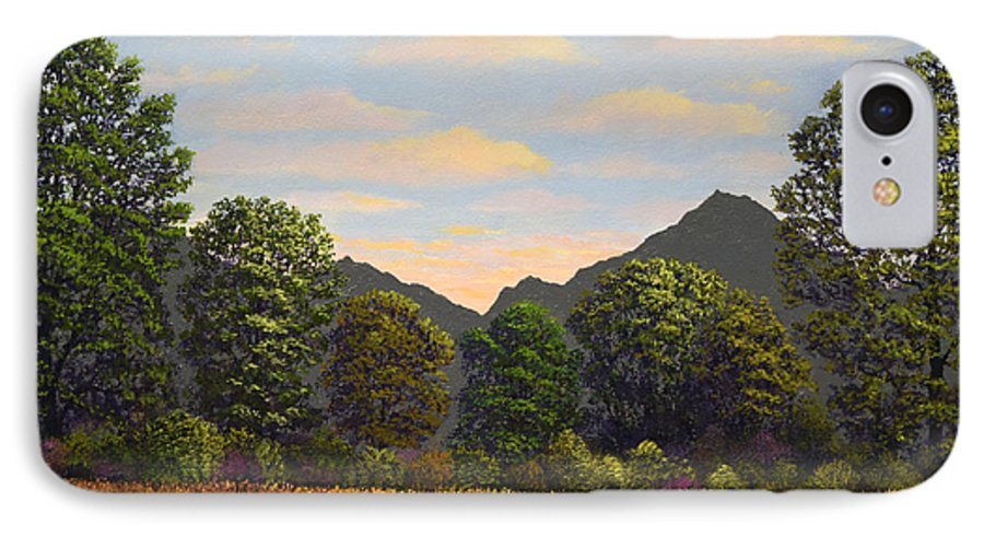 Spring Meadow At Sutter Buttes IPhone 7 Case featuring the painting Spring Meadow At Sutter Buttes by Frank Wilson
