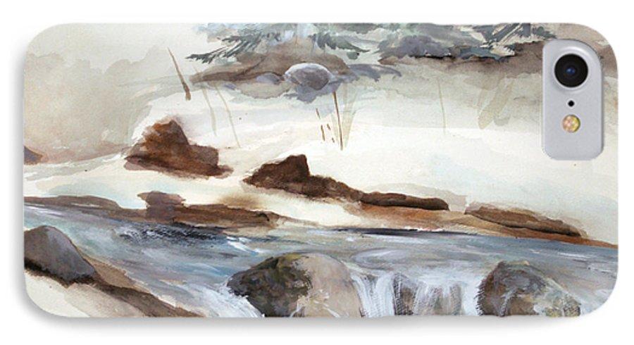 Rick Huotari IPhone 7 Case featuring the painting Springtime by Rick Huotari