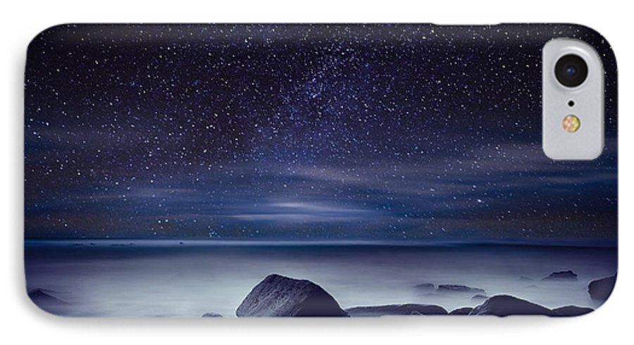 Night IPhone 7 Case featuring the photograph Starry Night by Jorge Maia