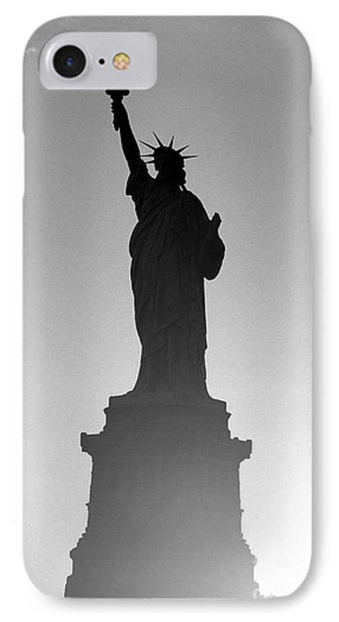 Statue Of Liberty IPhone 7 Case featuring the photograph Statue Of Liberty by Tony Cordoza