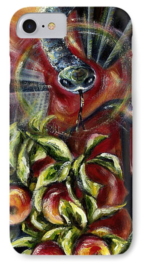Snake IPhone 7 Case featuring the painting Still... by Hiroko Sakai