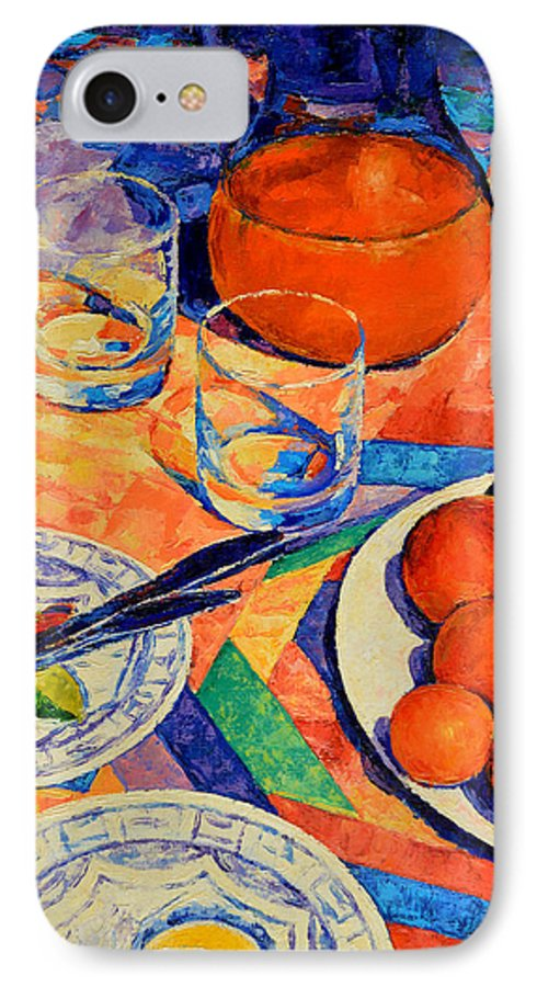 Still Life IPhone 7 Case featuring the painting Still Life 1 by Iliyan Bozhanov