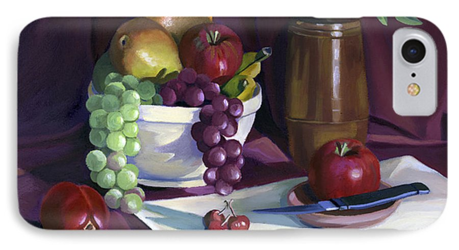 Fine Art IPhone 7 Case featuring the painting Still Life With Apples by Nancy Griswold