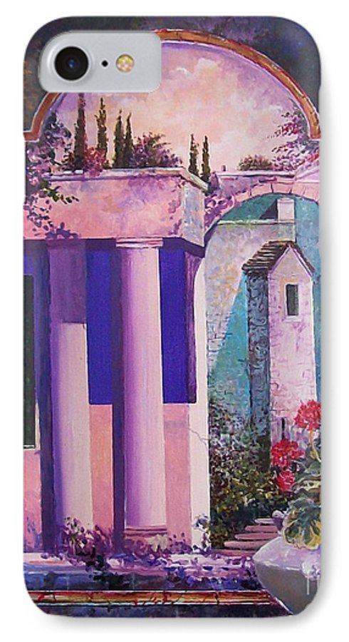 Still Life IPhone 7 Case featuring the painting Structures With Emotional Dimensions by Sinisa Saratlic