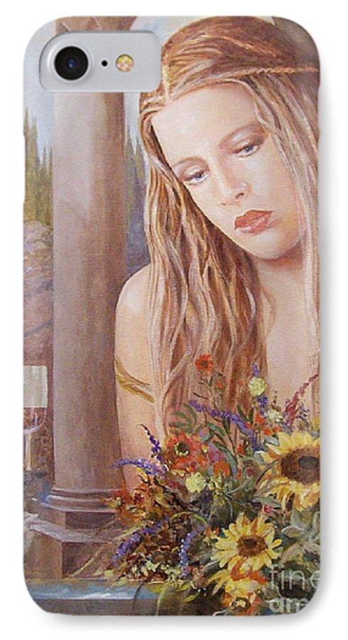 Portrait IPhone 7 Case featuring the painting Summer Day by Sinisa Saratlic