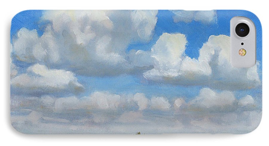 Landscape IPhone 7 Case featuring the painting Summer Pasture by Bruce Morrison