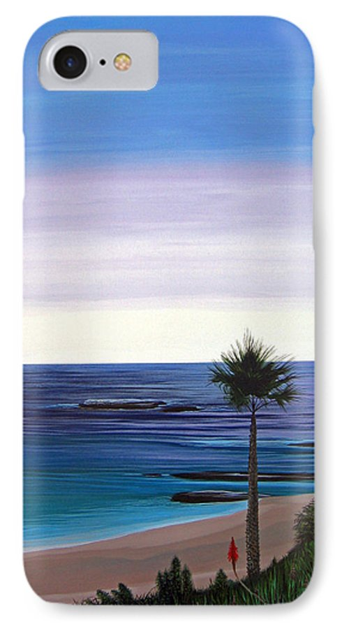 Malibu Beach IPhone 7 Case featuring the painting Summer Samba by Hunter Jay