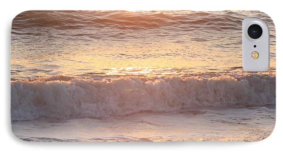 Waves IPhone 7 Case featuring the photograph Sunrise Waves by Nadine Rippelmeyer