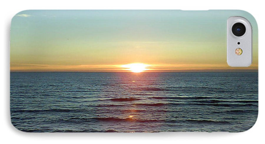 Sunset Over Sea IPhone 7 Case featuring the photograph Sunset Over Sea by Gordon Auld