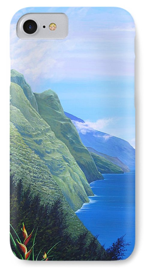 Landscape IPhone 7 Case featuring the painting Sunshine In The Shade by Hunter Jay