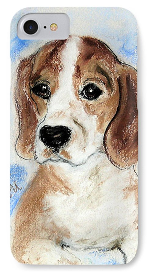 Dog IPhone 7 Case featuring the drawing Sweet Innocence by Cori Solomon