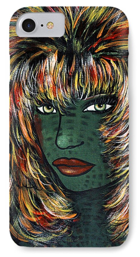 Woman IPhone 7 Case featuring the painting Tattoo by Natalie Holland