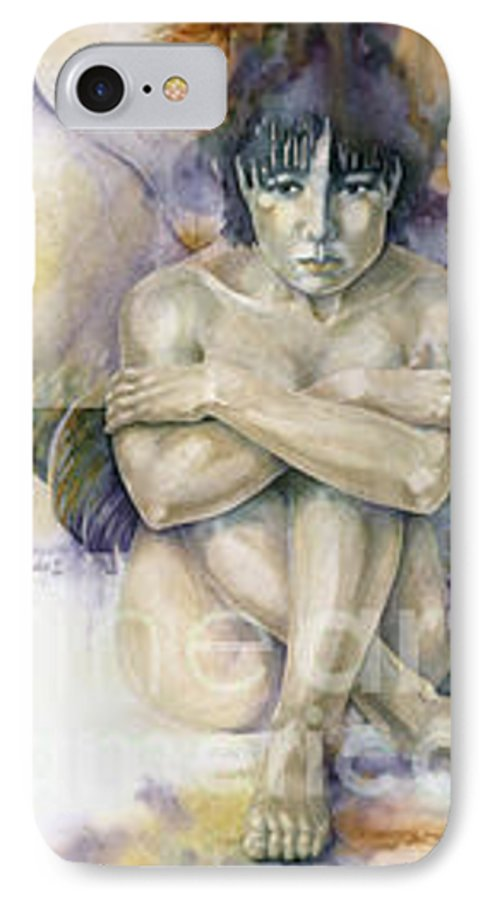 Angel IPhone 7 Case featuring the painting Tessera First Awareness by Wendy Froshay