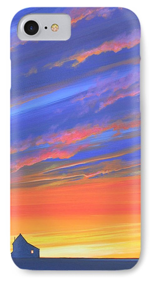 Sunset IPhone 7 Case featuring the painting The Aunt's House by Hunter Jay