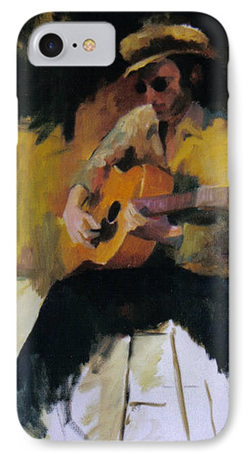 Man IPhone 7 Case featuring the painting The Blues Man by John L Campbell