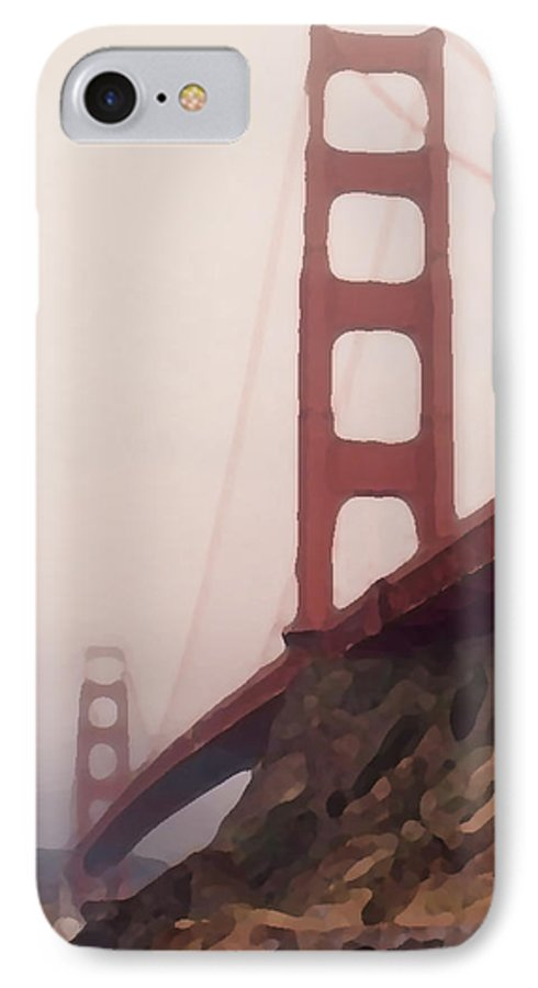 Art IPhone 7 Case featuring the photograph The Bridge by Piero Lucia