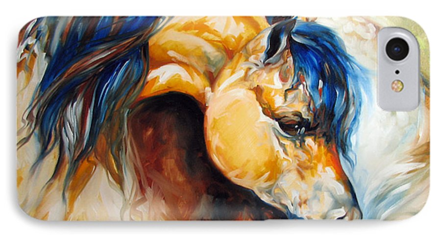Horse IPhone 7 Case featuring the painting The Buckskin by Marcia Baldwin