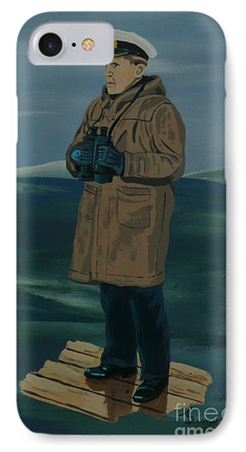 Captain IPhone 7 Case featuring the painting The Captain by Anthony Dunphy