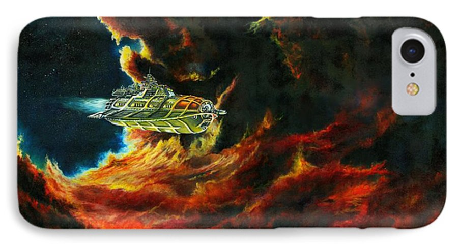 Devil IPhone 7 Case featuring the painting The Devil's Lair by Murphy Elliott