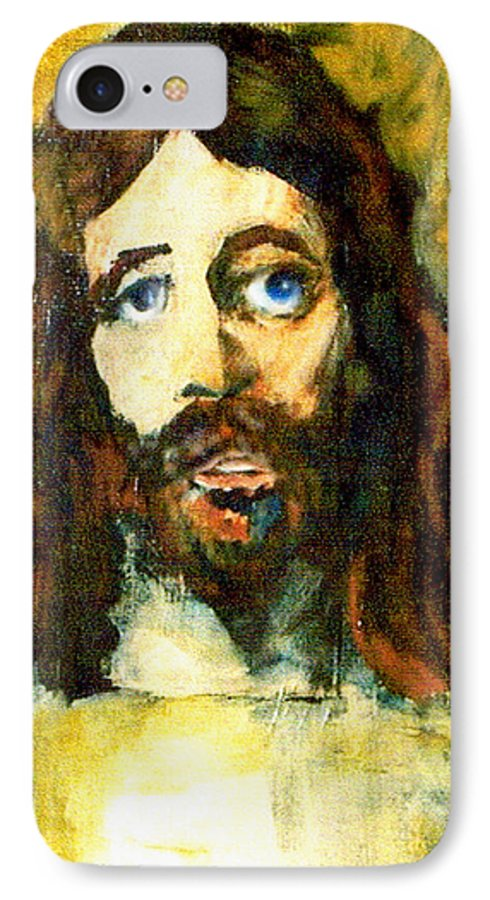 Jesus Christ IPhone 7 Case featuring the painting The Galilean by Seth Weaver