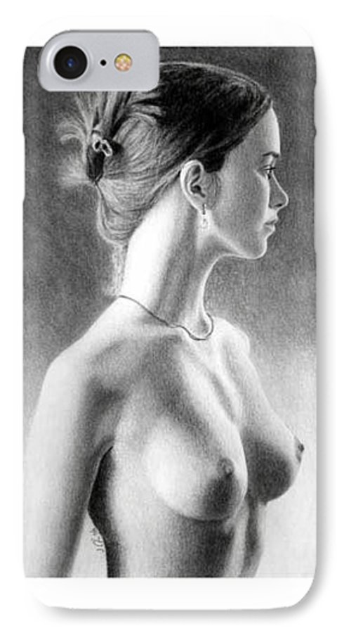Pastel IPhone 7 Case featuring the painting The Girl With The Glass Earring by Joseph Ogle