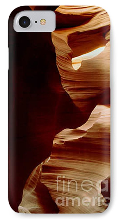 Landscape IPhone 7 Case featuring the photograph The Heart Of Antelope Canyon by Kathy McClure
