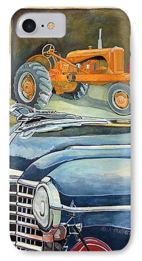 Rick Huotari IPhone 7 Case featuring the painting The Old Farm by Rick Huotari