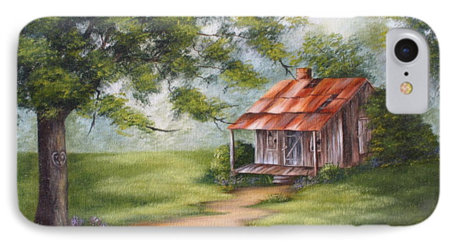 Oil IPhone 7 Case featuring the painting The Old Homestead by Ruth Bares