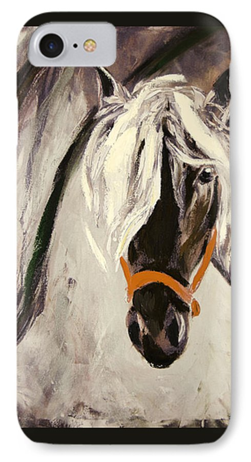 Horses IPhone 7 Case featuring the painting The Performer by Gina De Gorna
