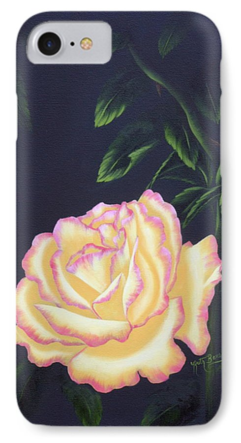 Rose IPhone 7 Case featuring the painting The Rose by Ruth Bares
