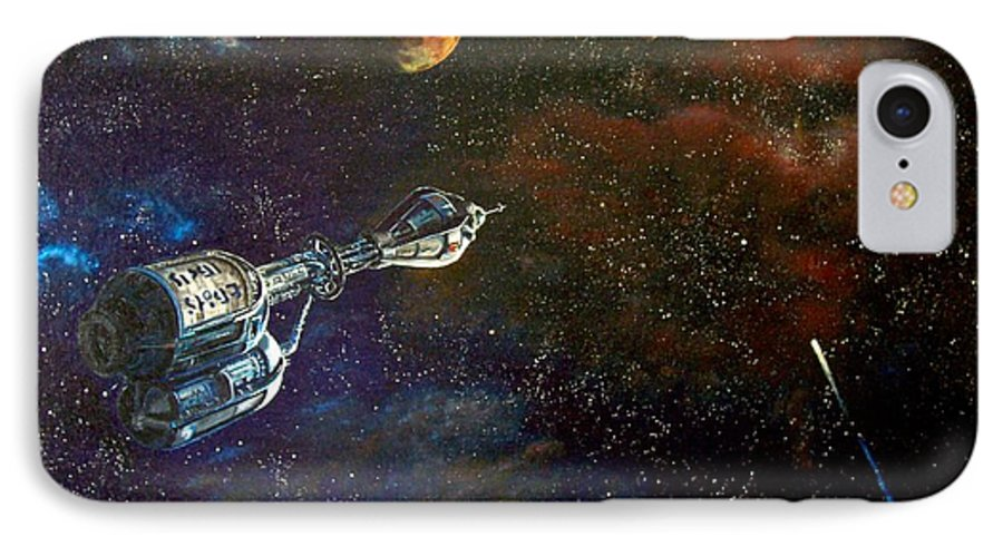 Vista Horizon IPhone 7 Case featuring the painting The Search For Earth by Murphy Elliott