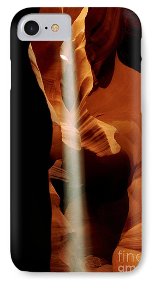 Antelope Canyon IPhone 7 Case featuring the photograph The Source by Kathy McClure