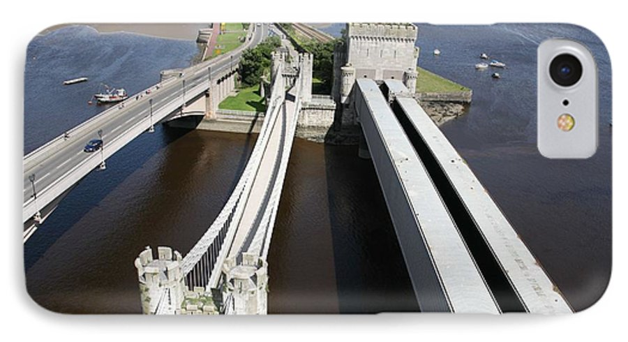 Bridges IPhone 7 Case featuring the photograph The Three Bridges. by Christopher Rowlands