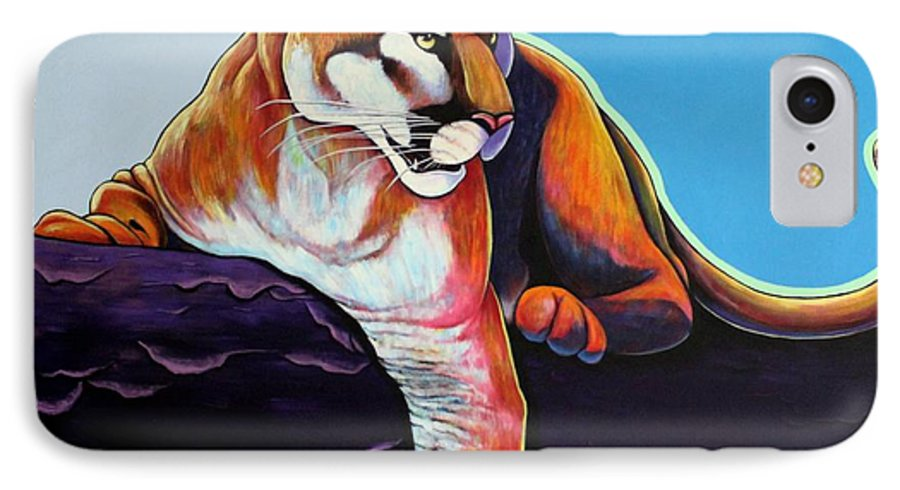 Wildlife IPhone 7 Case featuring the painting The Toll Collector by Joe Triano